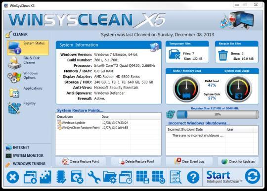 WinSysClean X6