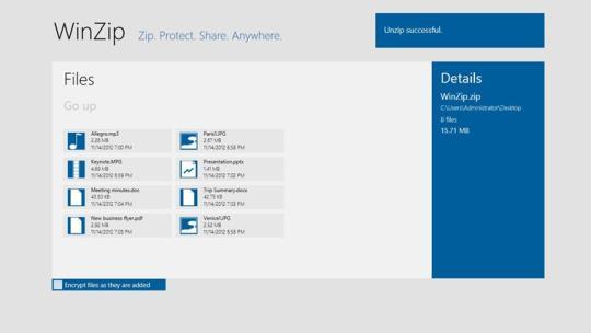 WinZip (Windows 8)