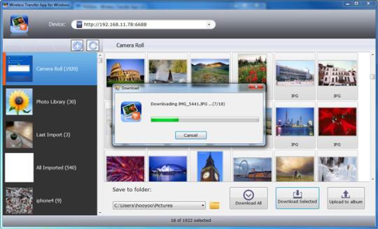 Wireless Transfer App for Windows