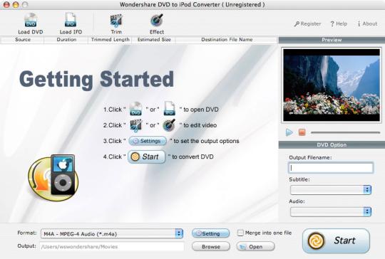 Wondershare DVD to iPod Converter