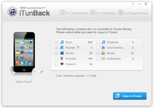 Wondershare iTunBack
