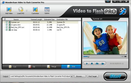 Wondershare Video to Flash Converter Pro