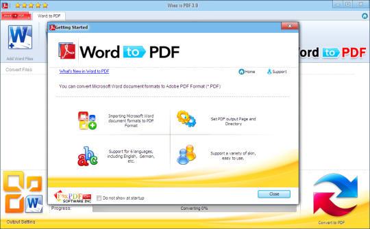 Word 2007 to PDF