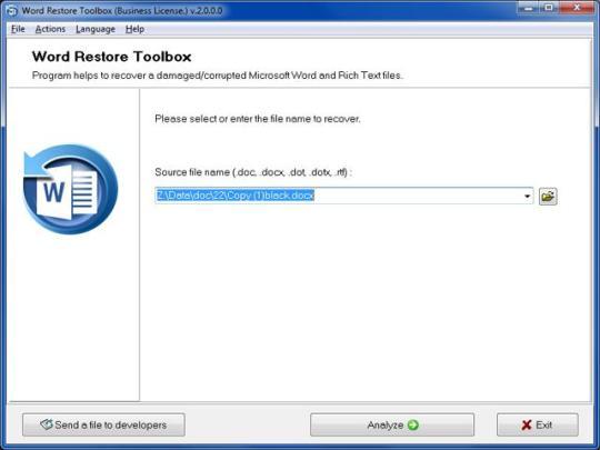 Word Restore Toolbox