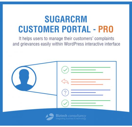 WordPress SugarCRM Customer Portal Pro