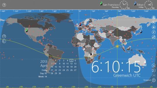 World Astro Clock Light for Windows 8