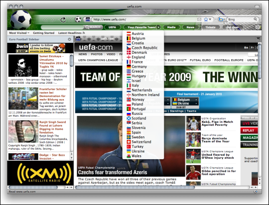 World Cup Soccer Firefox Theme