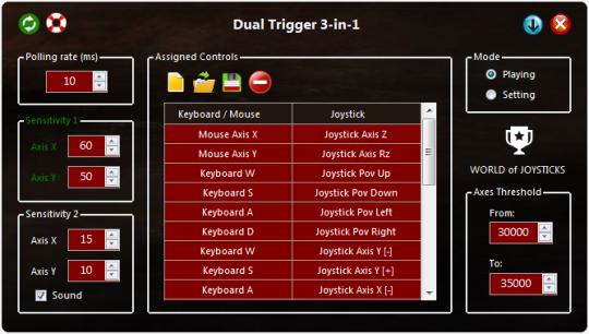 World of Joysticks Emulator