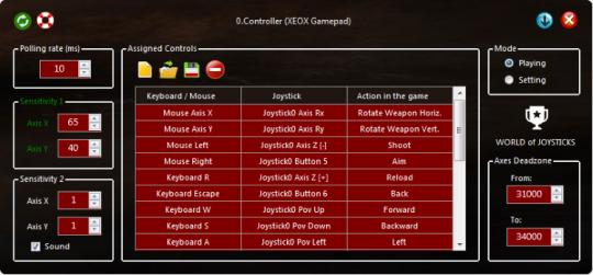 World of Joysticks Emulator Extreme Edition