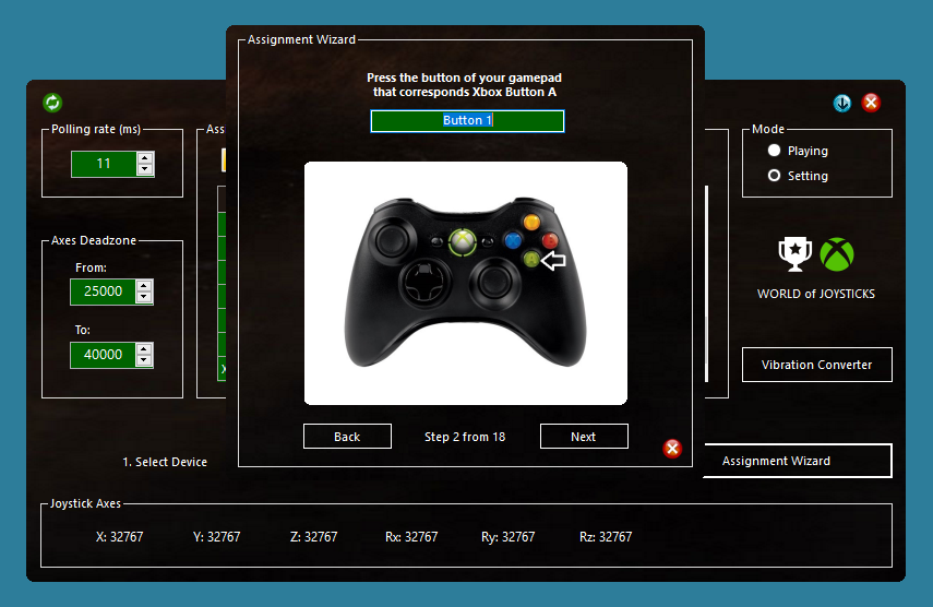 World of Joysticks XInput Emulator