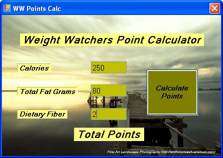WW Points Calculator