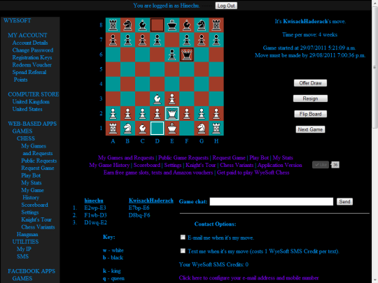 WyeSoft Chess (Web Based)