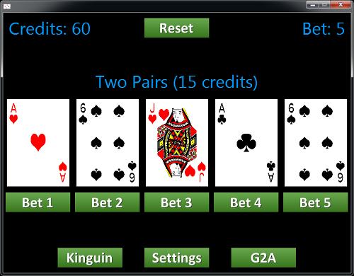WyeSoft Video Poker
