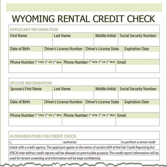 Wyoming Rental Credit Check