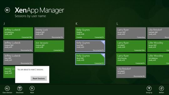 XenApp Manager for Windows 8