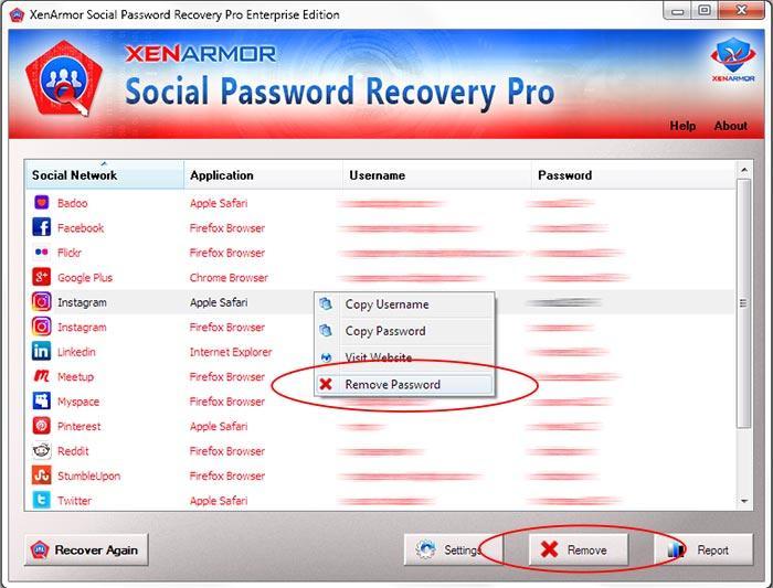XenArmor Social Password Recovery Pro