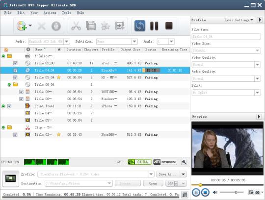 Xilisoft DVD Ripper Ultimate SE