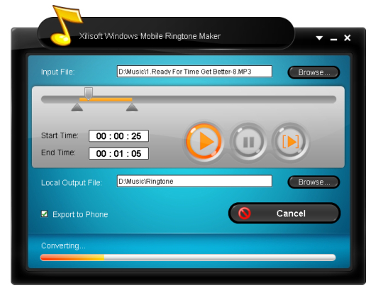 Xilisoft Windows Mobile Ringtone Maker