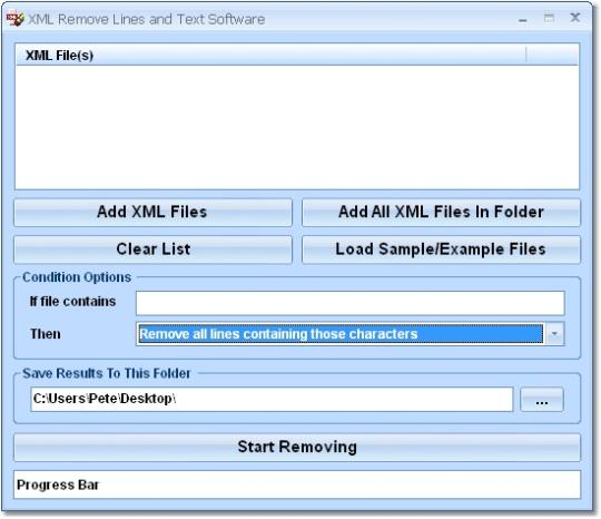 XML Remove Lines and Text Software