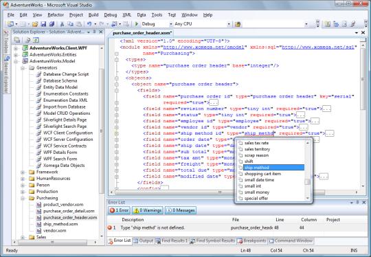 Xomega.Net for Visual Studio 2010