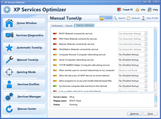 XP Services Optimizer