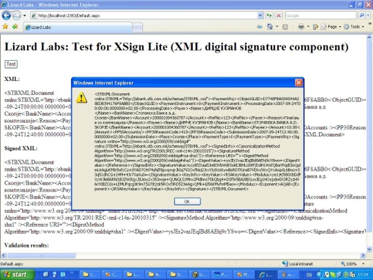 XSign XML Signature and Encryption Components