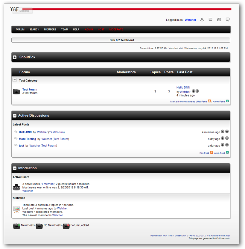 YetAnotherForum.NET for DotNetNuke