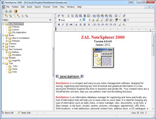 ZAL NoteXplorer