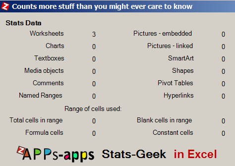 zAPPs-Stats-Geek for Microsoft Office 2010