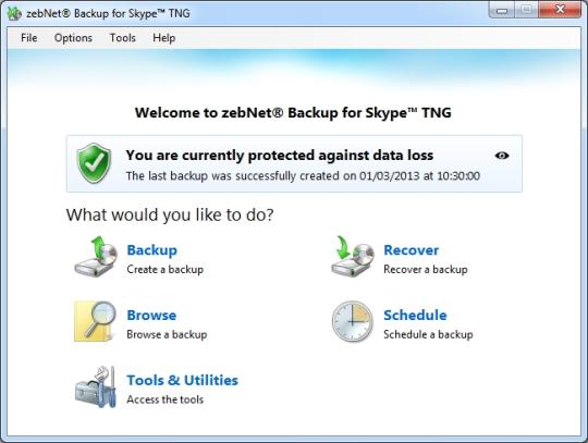 zebNet Backup for Skype