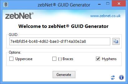 zebNet GUID Generator