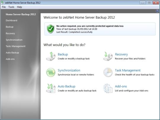 ZebNet Home Server Backup 2012