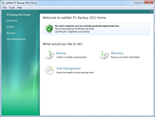 ZebNet PC Backup 2012 Home
