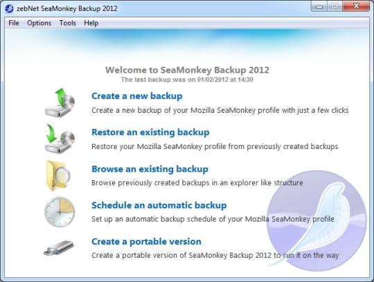 zebNet SeaMonkey Backup 2012