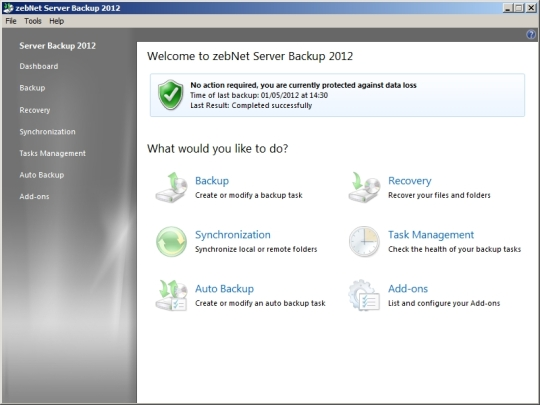 ZebNet Server Backup 2012