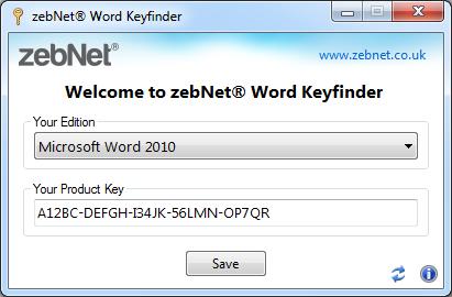 ZebNet Word Keyfinder