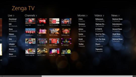 ZengaTV for Windows 8