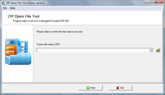 ZIP Open File Tool