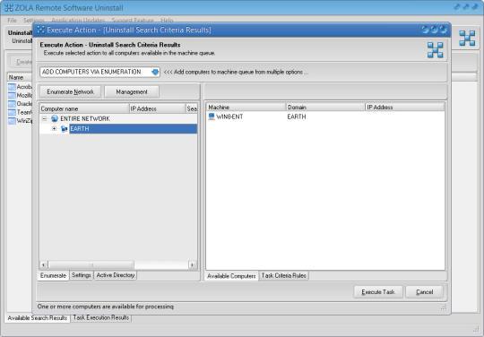 ZOLA Remote Software Uninstall