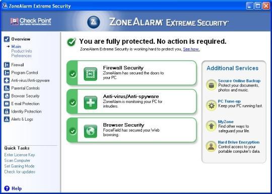 ZoneAlarm Extreme Security 2018