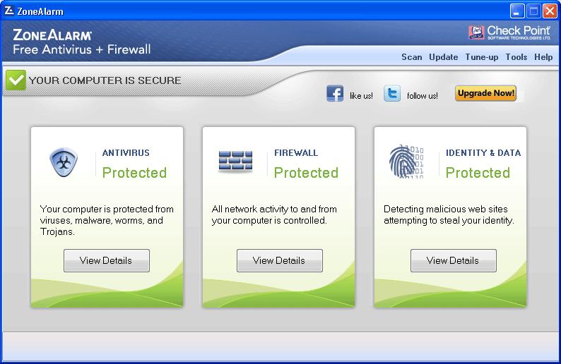 ZoneAlarm Free Antivirus 2018