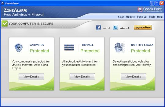 ZoneAlarm Free Antivirus+Firewall