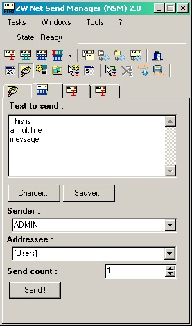 ZW Net Send Manager Portable